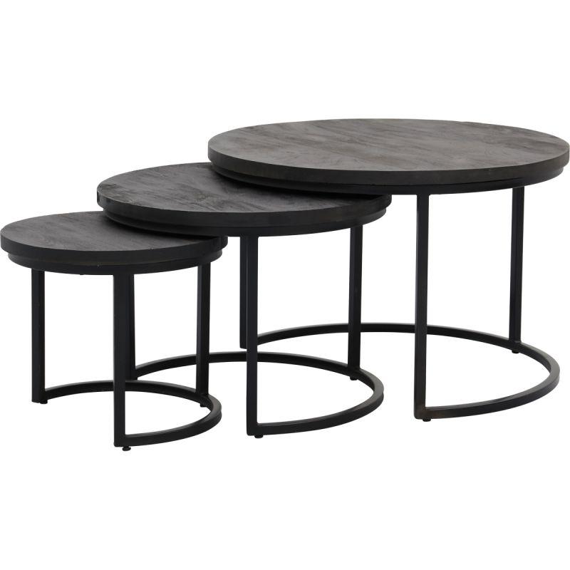 Salontafel Enzo set van 3 zwart
