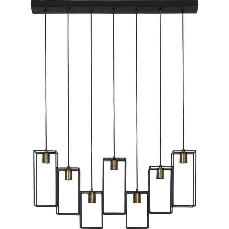 Hanglamp Marly 7 lichts antiek brons