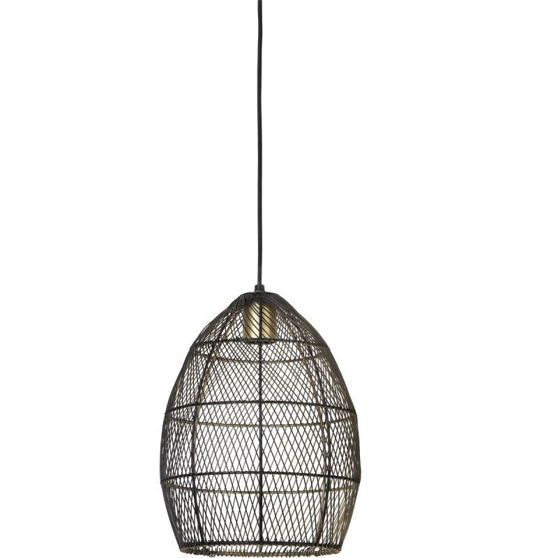 Hanglamp Madita 23x31cm zwart goud