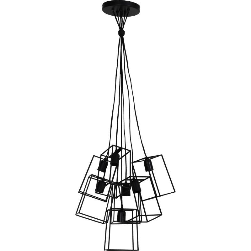 Hanglamp Vera 7 lichts mat zwart