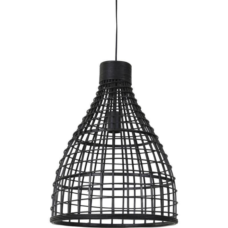 Hanglamp Porto 40x51cm rotan zwart
