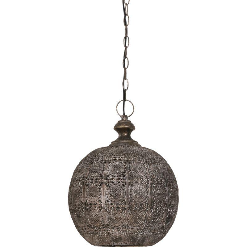 Hanglamp 32x36,5cm Anya bruin goud